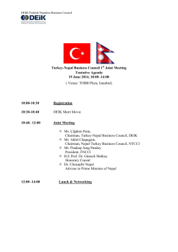 TURKISH – JAPANESE BUSINESS COUNCIL