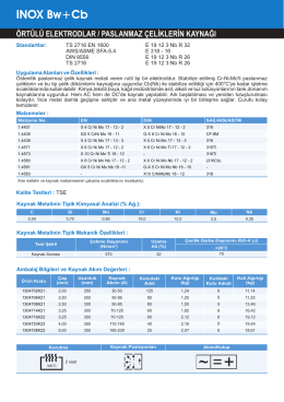 INOX Bw+Cb - Oerlikon Kaynak