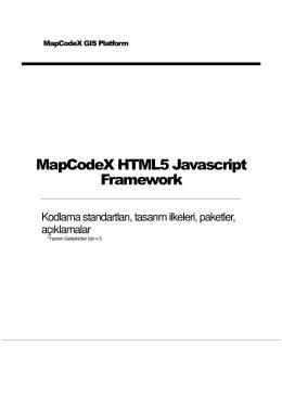 MapCodeX HTML5 Javascr pt Framework