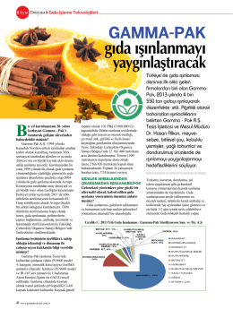 Şubat 2014 Gıda Teknolojisi Dergisi - Gamma-Pak