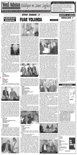 29 aralik sanat - Yeni Adana Gazetesi