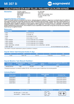 MI 307 Si - Oerlikon Kaynak
