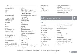 Menschen A1 Glossar Deutsch-Türkisch