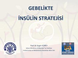 Gebelikte insülin stratejisi