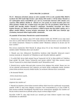 medeni yargılama hukuku ı pratik çalışma (19.12.2014)