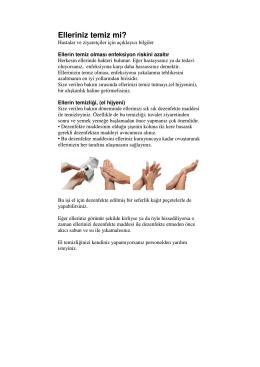 Elleriniz temiz mi?