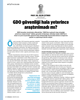 GDO güvenliği hala yeterince araştırılmadı mı?