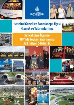 İstanbul Geneli ve Sancaktepe İlçesi Hizmet ve Yatırımlarımız