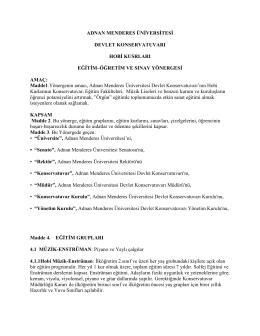 Hobi KURSLARI yÖNERGESİ - Adnan Menderes Üniversitesi