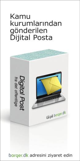 Kamu kurumlarından gönderilen Dijital Posta