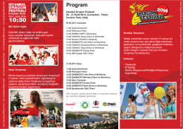 2014 Eylül Festival Programı