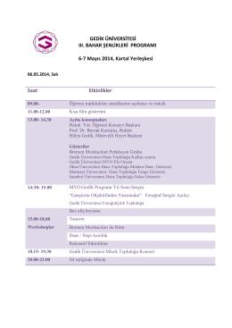 Gedik Üniversitesi III. Bahar Şenlikleri Programı