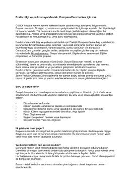 Pratik bilgi ve psikososyal destek, CompassCare