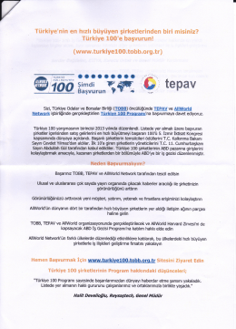 Türkiye 100 Programı