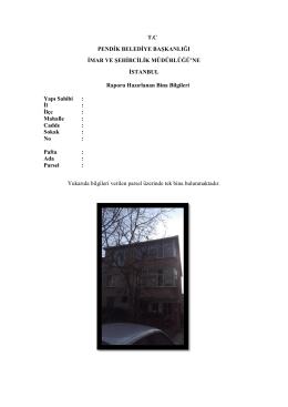 Betonarme Yapılar Rapor Örneği