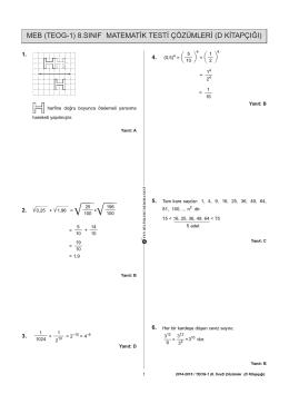 Matematik- D Kitapçığı Çözümleri