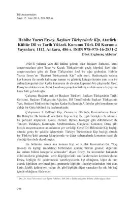 Habibe Yazıcı Ersoy, Başkurt Türkçesinde Kip