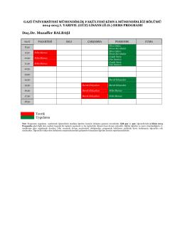 2014-15 Güz Dönemi Duyurusu