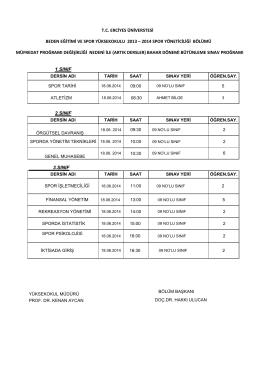2014 spor yöneticiliği bölümü müfr
