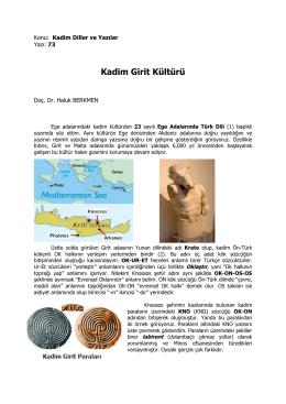 Kadim Girit Kültürü
