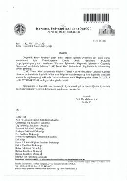 doçentlik sınavı - Personel Daire Başkanlığı