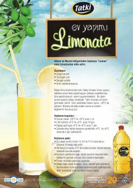 Limonata ve Limon suyu Foy Ok