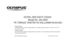DİJİTAL SES KAYIT CİHAZI Model No. DS-2500 TR