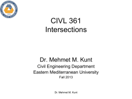 CIVL 361 Intersections - Eastern Mediterranean University