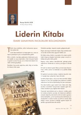 Liderin Kitabı - İdare Sanatının İncelikleri Bölümünden Recep Muhlis