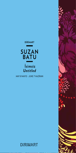 İsimsiz | Untitled SUZAN BATU