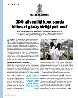 GDO güvenliği konusunda bilimsel görüş birliği yok mu?