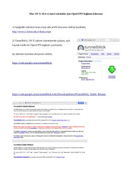 Mac OS X 10.4 ve üzeri sürümler için OpenVPN bağlantı kılavuzu 1