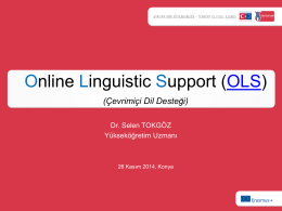 Online Language Support (OLS)