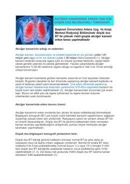 Akciğer kanserinin sıklığı ve nedenleri: Akciğer kanseri, dünyada