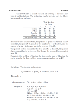 IE333 OR I – QUIZ 1 01/10/2014