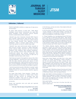 journal of turkısh sleep medıcıne