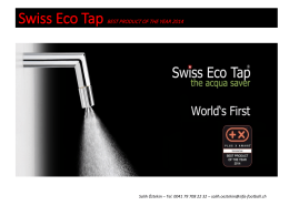 Swiss Eco Tap BEST PRODUCT OF THE YEAR 2014