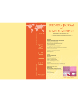 EUROPEAN JOURNAL of GENERAL MEDICINE
