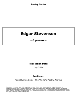 Edgar Stevenson - poems -