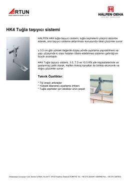 HK4 Tuğla taşıyıcı sistemi