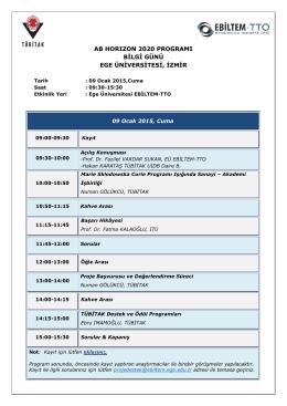 ab horızon 2020 programı bilgi günü ege üniversitesi, izmir
