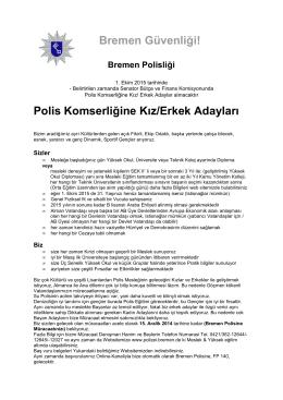 Stellenausschreibung auf türkisch als PDF