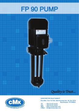 FP90 POMPA - ON - CMK - Çınar Motor Kalıp Sanayi
