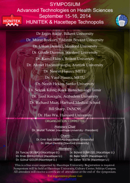 SYMPOSIUM Advanced Technologies on Health Sciences
