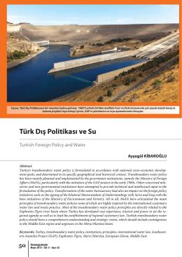 Turk Dis Politikasi ve Su