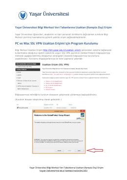 PC ve Mac SSL VPN Uzaktan Erişimi için Program Kurulumu
