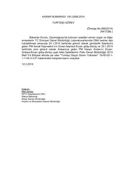 12.02.2014 - KKTC Başbakanlığı