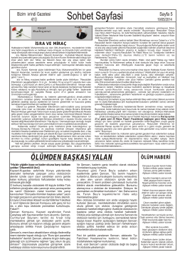 Sohbet Sayfasi - İvrindi Gazetesi