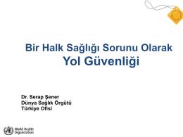 Bir Halk Sağlığı Sorunu Olarak Yol Güvenliği [PDF]