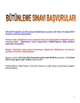 OASIS Ders Kayıtları ve Danışman Onayları